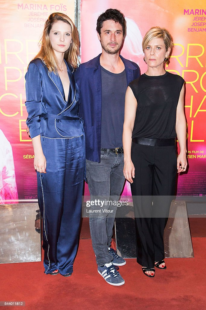 Actress Camille Japy, Actor <a gi-track='captionPersonalityLinkClicked' href=/galleries/search?phrase=Jeremie+Elkaim&family=editorial&specificpeople=7769713 ng-click='$event.stopPropagation()'>Jeremie Elkaim</a> and Actress <a gi-track='captionPersonalityLinkClicked' href=/galleries/search?phrase=Marina+Fois&family=editorial&specificpeople=760498 ng-click='$event.stopPropagation()'>Marina Fois</a> attend 'Irreprochable' Paris Premiere at UGC Cine Cite des Halles on June 30, 2016 in Paris, France.