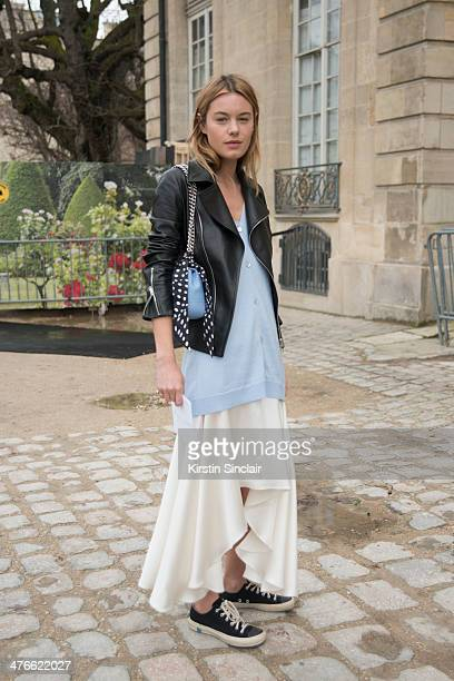 Actress Camille Rowe on day 4 of Paris Collections Women on February 28 2014 in Paris France