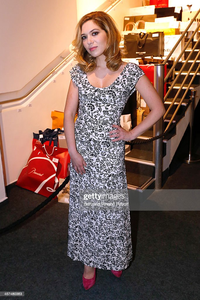 Actress Camille Seydoux (wearing Louis Vuitton) attends the Annual Charity Dinner hosted by the AEM Association Children of the World for Rwanda on December 17, 2013. Held at Espace Pierre Cardin in Paris, France.