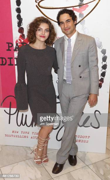 Actress Camren Bicondova and designer Zac Posen attend Plum Skye's 'Party Girls Die In Pearls' book launch celebration at Brooks Brothers on May 9...