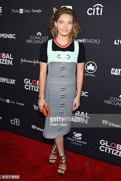 Actress Camren Bicondova attends the 2016 Global Citizen Festival In Central Park To End Extreme Poverty By 2030 at Central Park on September 24 2016...