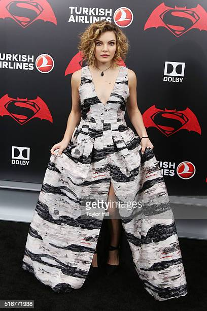 Actress Camren Bicondova attends the 'Batman v Superman Dawn of Justice' premiere at Radio City Music Hall on March 20 2016 in New York City