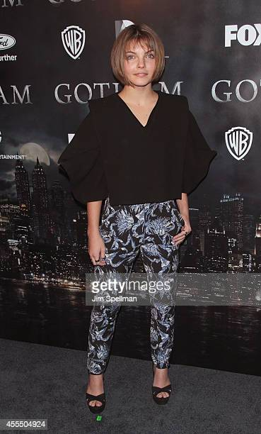 Actress Camren Bicondova attends the 'Gotham' Series Premiere at The New York Public Library on September 15 2014 in New York City