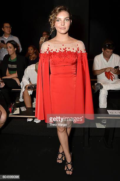 Actress Camren Bicondova attends the Lanyu fashion show during the September 2016 New York Fashion Week The Shows at The Dock Skylight at Moynihan...