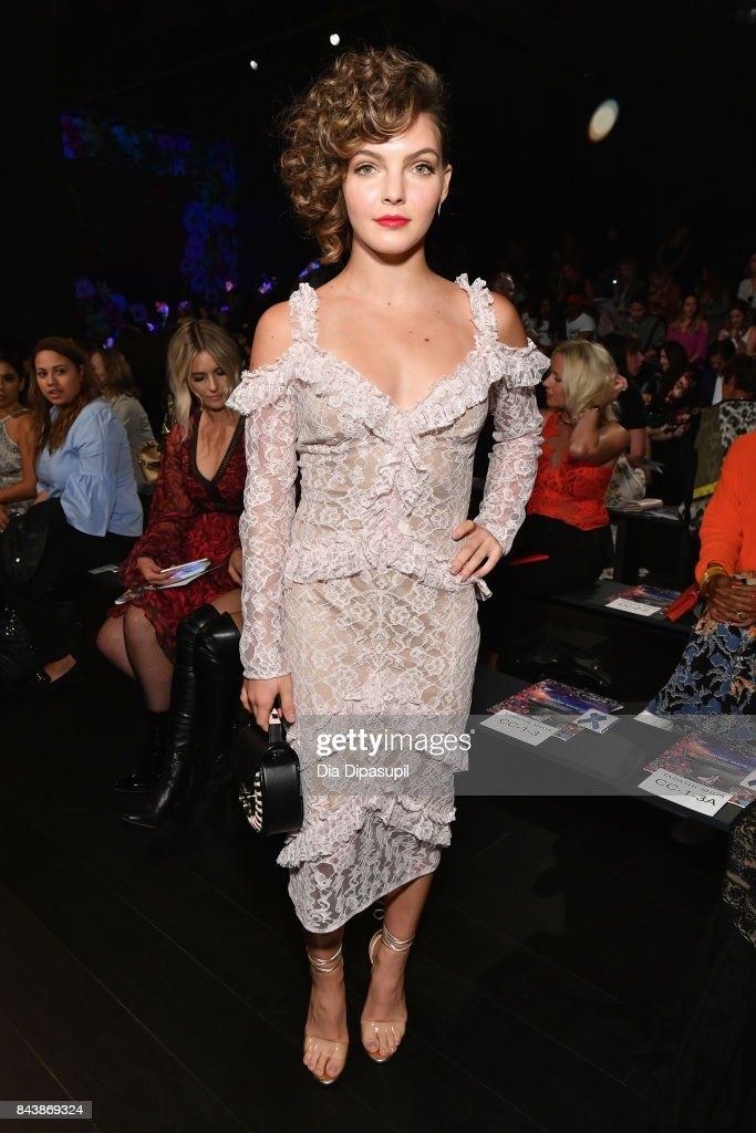 Actress Camren Bicondova attends the Tadashi Shoji fashion show during New York Fashion Week: The Shows at Gallery 1, Skylight Clarkson Sq on September 7, 2017 in New York City.