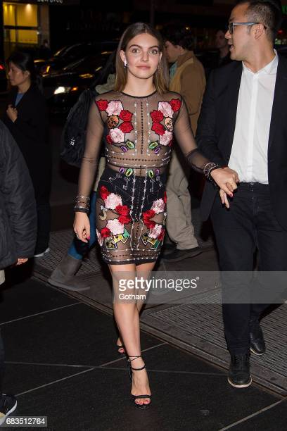 Actress Camren Bicondova is seen in Midtown on May 15 2017 in New York City