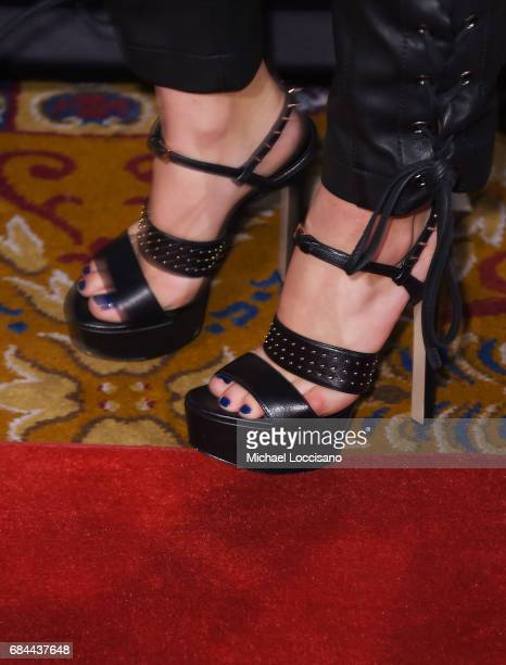 Actress Camren Bicondova shoe detail attends the The Paley Honors Celebrating Women In Television event at Cipriani Wall Street at on May 17 2017 in...