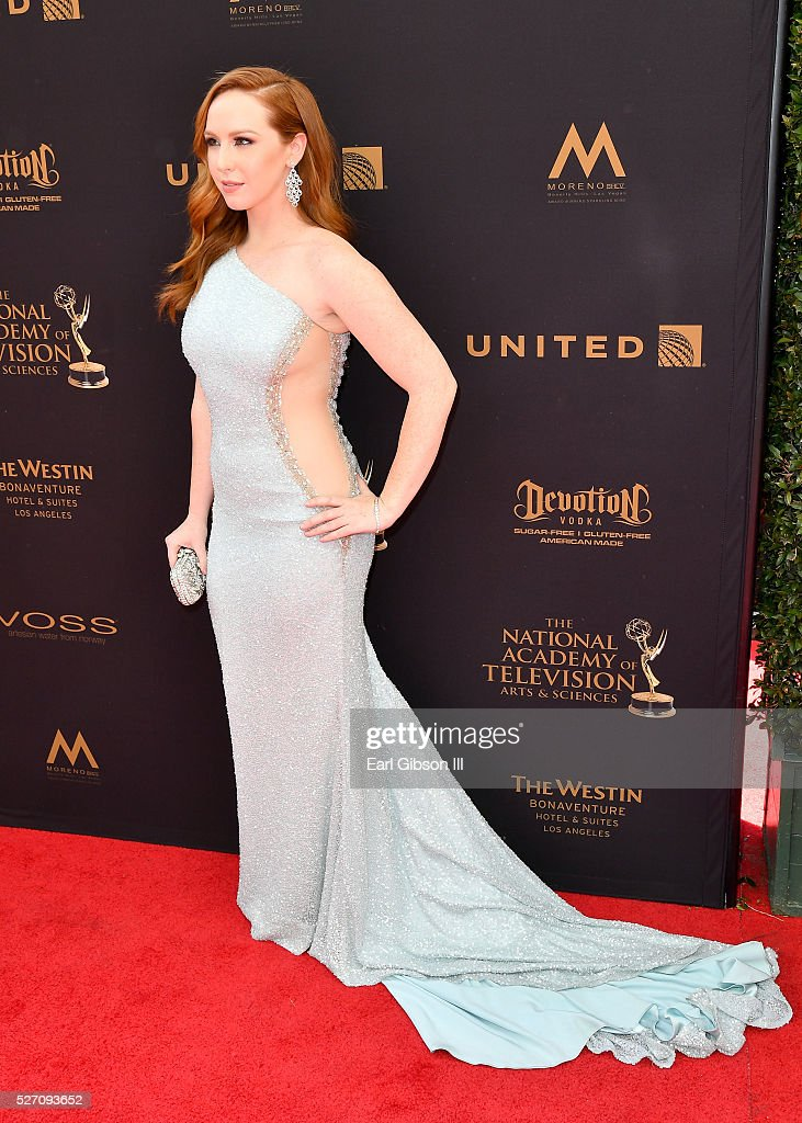 Actress Camryn Grimes arrives at the 43rd Annual Daytime Emmy Awards at the Westin Bonaventure Hotel on May 1, 2016 in Los Angeles, California.