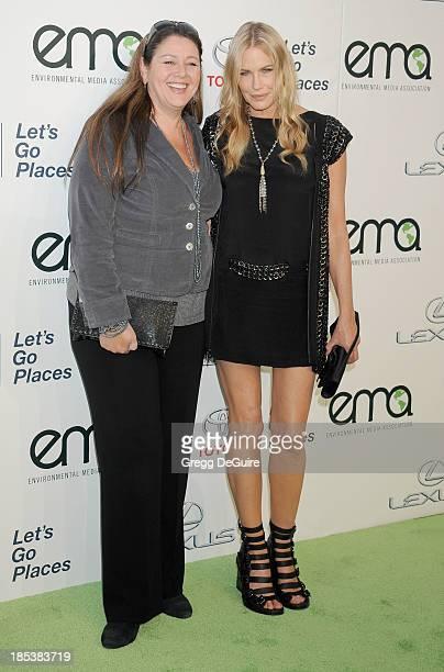 Actress Camryn Manheim and Daryl Hannah arrive at the 2013 Environmental Media Awards at Warner Bros Studios on October 19 2013 in Burbank California