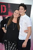 Actress Camryn Manheim and son Milo Jacob Manheim attend STX Entertainment's premiere of 'Bad Moms' held at Mann Village Theater on July 26 2016 in...