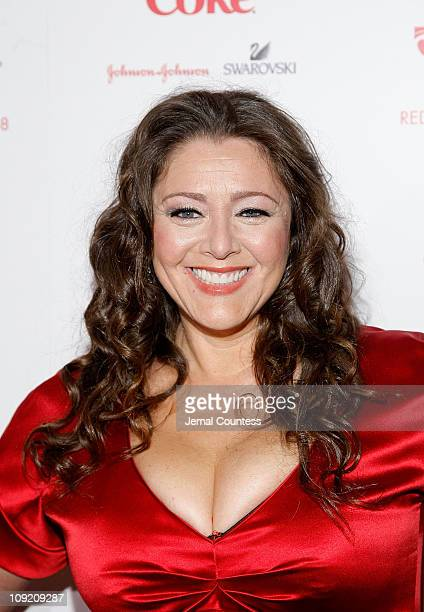 Actress Camryn Manheim backstage at the Red Dress Fashion Show sponsored by Diet Coke at Bryant Park on February 1 2008 in New York City