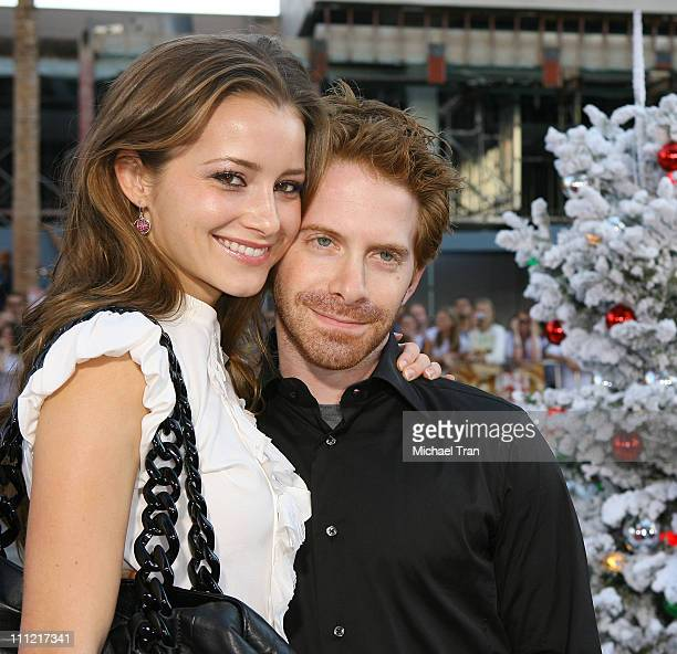 Actress Candace Bailey and actor Seth Green arrive at the premiere of Warner Bros' 'Fred Claus' at Grauman's Chinese Theater on November 3 2007 in...