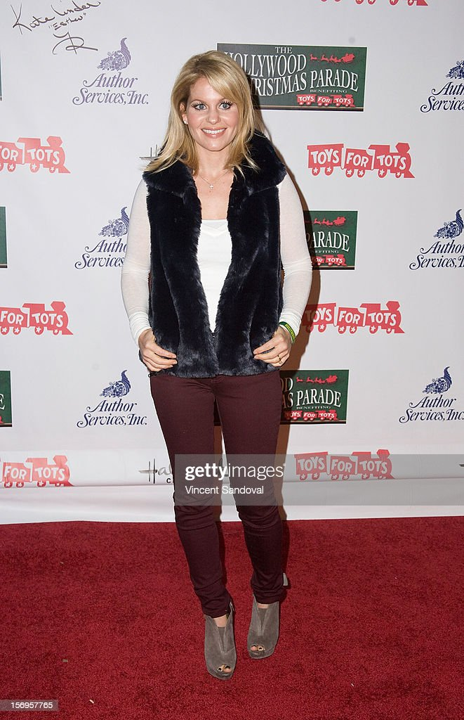 Actress Candace Cameron attends the 2012 Hollywood Christmas Parade Benefiting Marine Toys For Tots on November 25, 2012 in Los Angeles, California.
