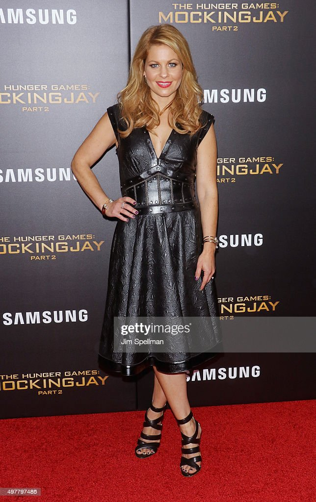 Actress Candace Cameron attends the 'The Hunger Games: Mockingjay- Part 2' New York premiere at AMC Loews Lincoln Square 13 theater on November 18, 2015 in New York City.