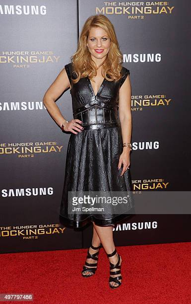 Actress Candace Cameron attends the 'The Hunger Games Mockingjay Part 2' New York premiere at AMC Loews Lincoln Square 13 theater on November 18 2015...