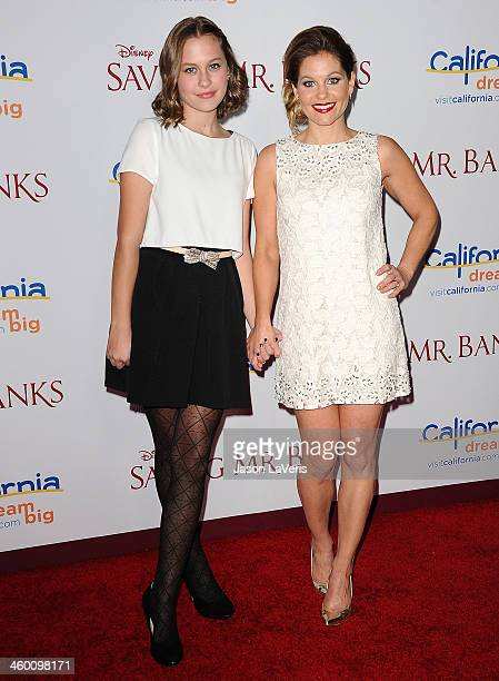 Actress Candace Cameron Bure and daughter Natasha Bure attend the premiere of 'Saving Mr Banks' at Walt Disney Studios on December 9 2013 in Burbank...