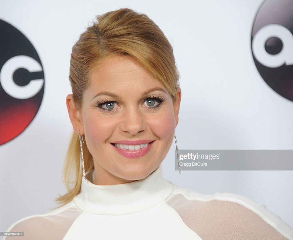 Actress <a gi-track='captionPersonalityLinkClicked' href=/galleries/search?phrase=Candace+Cameron+Bure&family=editorial&specificpeople=699962 ng-click='$event.stopPropagation()'>Candace Cameron Bure</a> arrives at the 2016 Winter TCA Tour - Disney/ABC at Langham Hotel on January 9, 2016 in Pasadena, California.