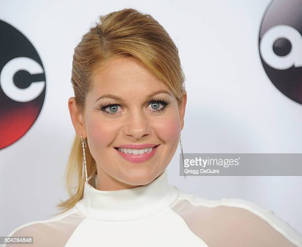 Actress Candace Cameron Bure arrives at the 2016 Winter TCA Tour Disney/ABC at Langham Hotel on January 9 2016 in Pasadena California