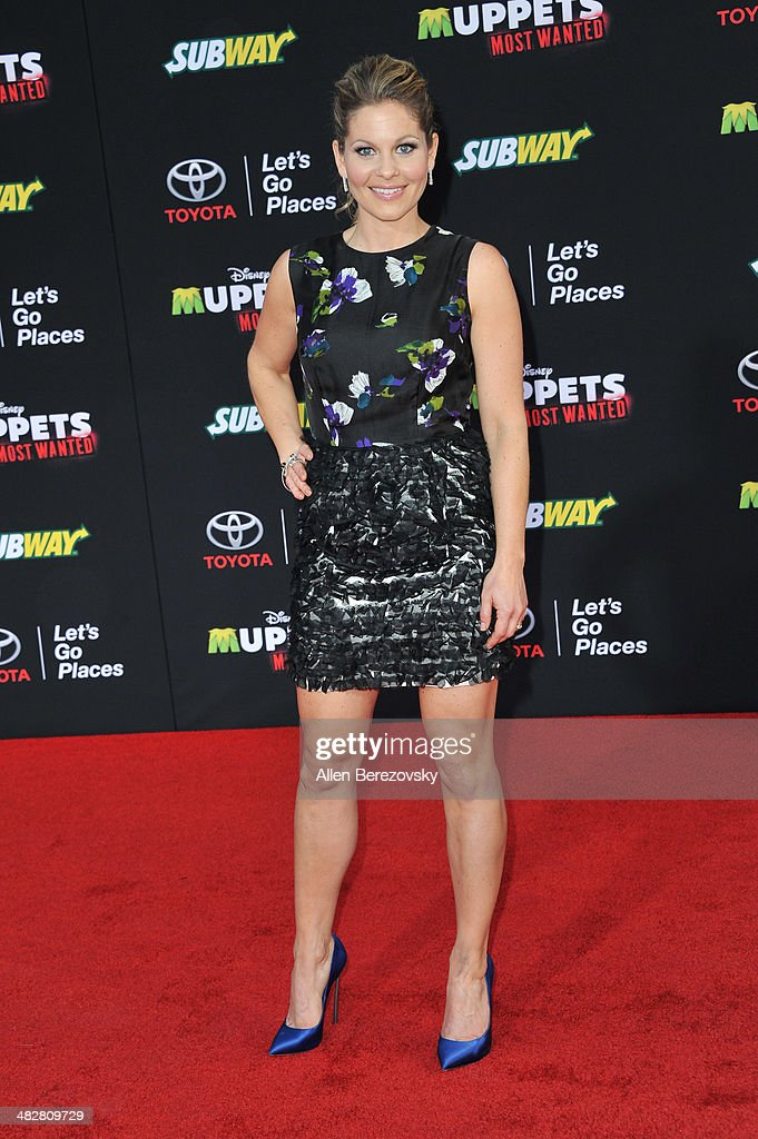Actress <a gi-track='captionPersonalityLinkClicked' href=/galleries/search?phrase=Candace+Cameron+Bure&family=editorial&specificpeople=699962 ng-click='$event.stopPropagation()'>Candace Cameron Bure</a> arrives at the Los Angeles premiere of 'Muppets Most Wanted' at the El Capitan Theatre on March 11, 2014 in Hollywood, California.