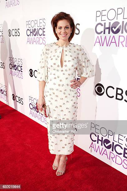 Actress Candace Cameron Bure attends the People's Choice Awards 2017 at Microsoft Theater on January 18 2017 in Los Angeles California