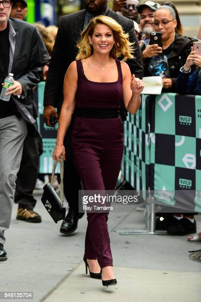 Actress Candace Cameron Bure leaves the 'AOL Build' taping at the AOL Studios on September 18 2017 in New York City