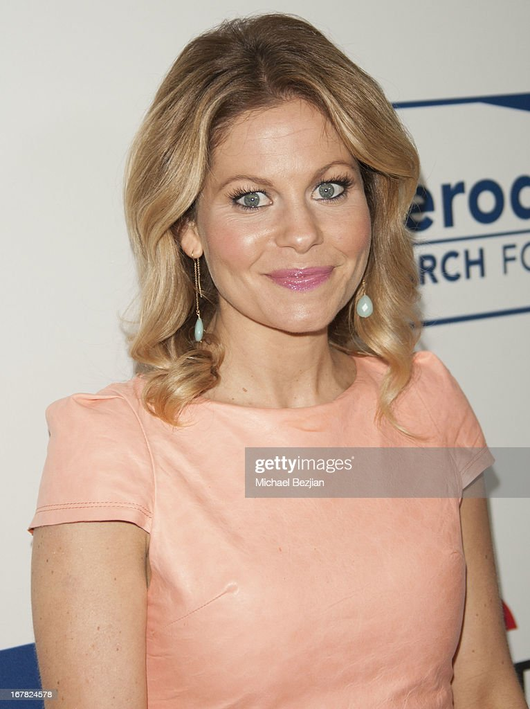 Actress Candace Cameron Bure walks the red carpet at Scleroderma Research Foundation's Cool Comedy - Hot Cuisine at Regent Beverly Wilshire Hotel on April 30, 2013 in Beverly Hills, California.
