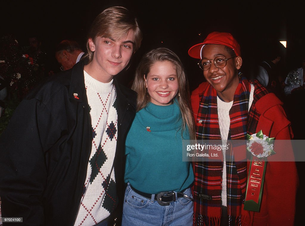 Actress Candace Cameron, Jeremy Miller and Jaleel White attending 60th Annual Hollywood Christmas Parade on December 1, 1991 in Hollywood, California.
