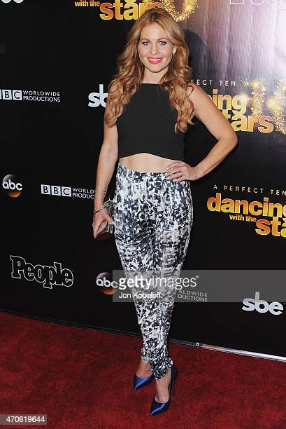 Actress Candace CameronBure arrives at the 10th Anniversary Of 'Dancing With The Stars' Party at Greystone Manor on April 21 2015 in West Hollywood...