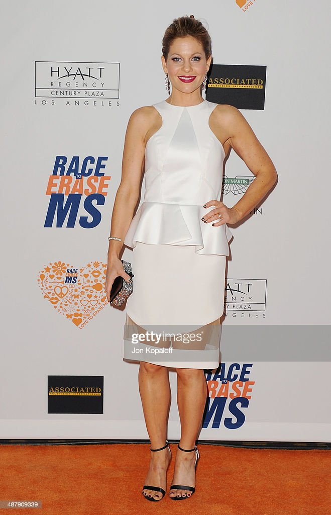 Actress Candace Cameron-Bure arrives at the 21st Annual Race To Erase MS Gala at the Hyatt Regency Century Plaza on May 2, 2014 in Century City, California.