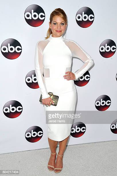 Actress Candace CameronBure arrives at the Disney/ABC 2016 Winter TCA Tour at the Langham Hotel on January 9 2016 in Pasadena California