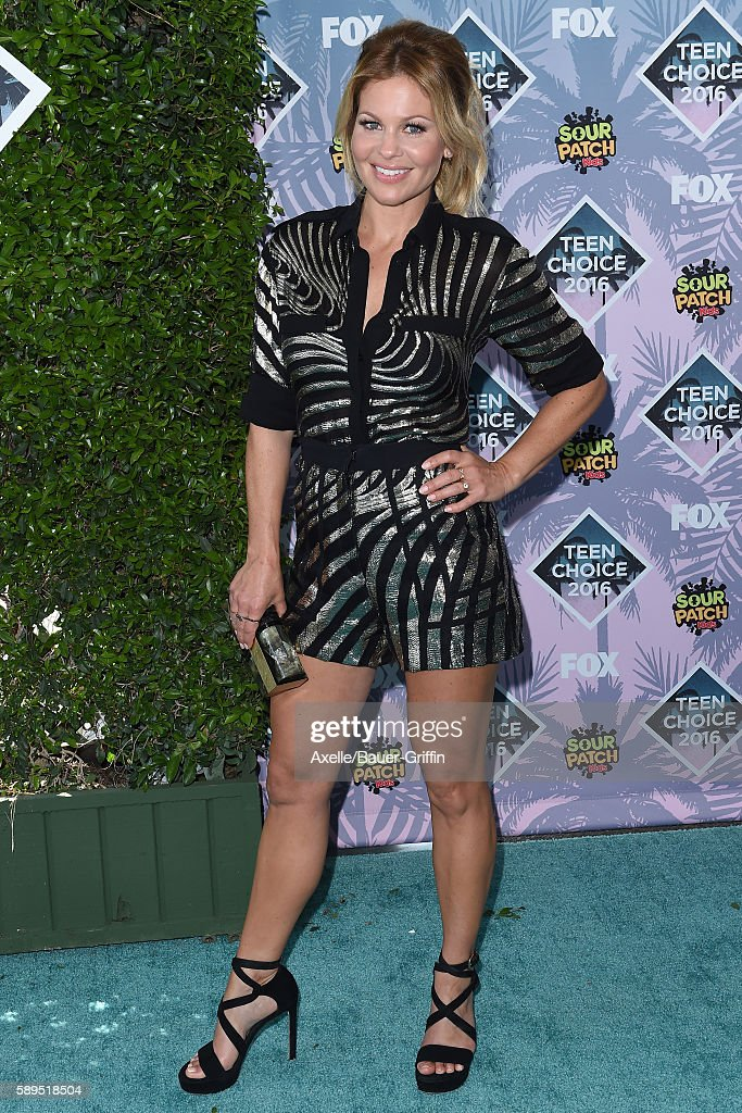 Actress Candace CameronBure arrives at the Teen Choice Awards 2016 at The Forum on July 31 2016 in Inglewood California