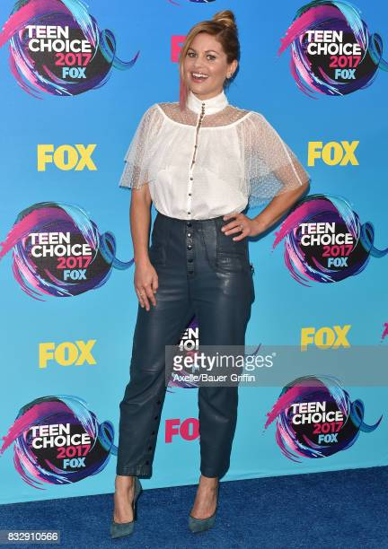 Actress Candace CameronBure arrives at the Teen Choice Awards 2017 at Galen Center on August 13 2017 in Los Angeles California