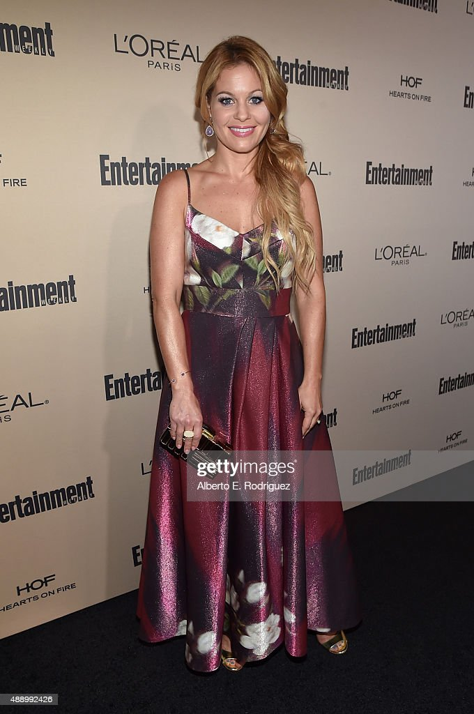 Actress Candace Cameron-Bure attends the 2015 Entertainment Weekly Pre-Emmy Party at Fig & Olive Melrose Place on September 18, 2015 in West Hollywood, California.