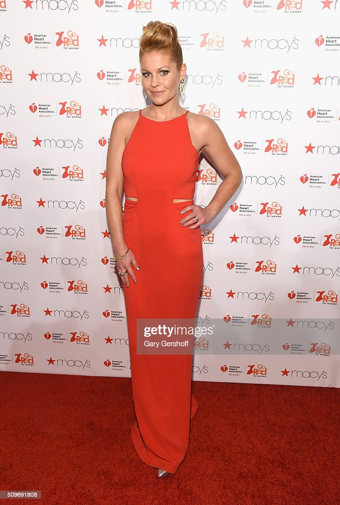 Actress Candace Cameron-Bure attends The American Heart Association's Go Red for Women Dress Collection 2016 at Skylight at Moynihan Station on February 11, 2016 in New York City.