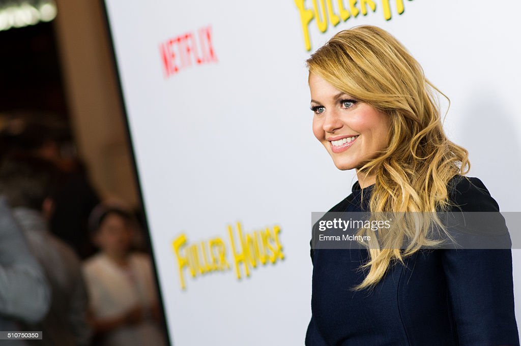 Actress Candace Cameron-Bure attends the premiere of Netflix's 'Fuller House' at Pacific Theatres at The Grove on February 16, 2016 in Los Angeles, California.