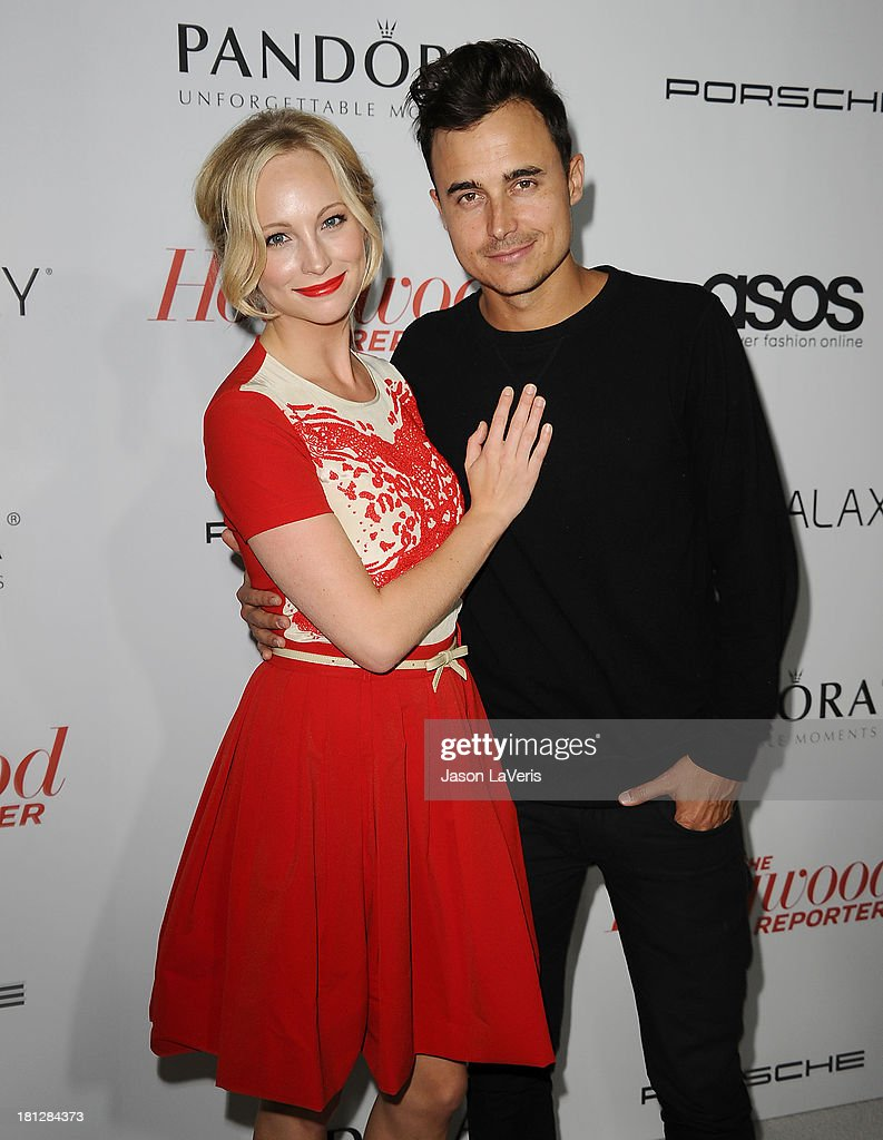 Actress Candice Accola and Joe King attend the Hollywood Reporter's celebration of the Emmys at Soho House on September 19 2013 in West Hollywood...