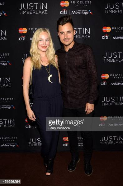Actress Candice Accola and Joe King of The Fray attend an exclusive NYC performance with Citi / AAdvantage MasterCard Priceless Access at Hammerstein...