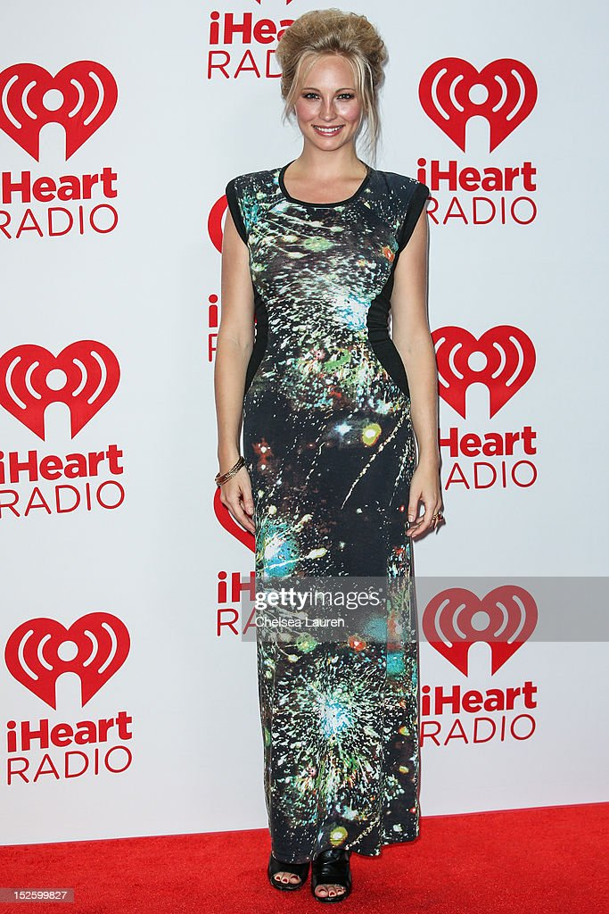 Actress Candice Accola arrives at iHeartRadio Music Festival press room at MGM Grand Garden Arena on September 22, 2012 in Las Vegas, Nevada.