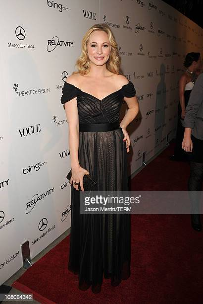 Actress Candice Accola arrives at the 2011 Art Of Elysium 'Heaven' Gala held at the California Science Center on January 15 2011 in Los Angeles...