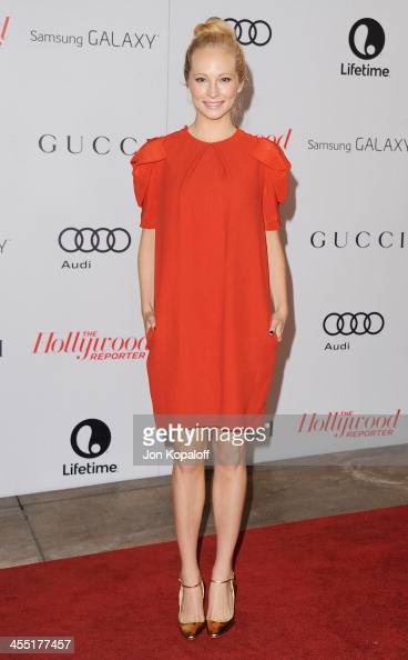 Actress Candice Accola arrives at The Hollywood Reporter's 22nd Annual Women In Entertainment Breakfast 2013 at Beverly Hills Hotel on December 11...