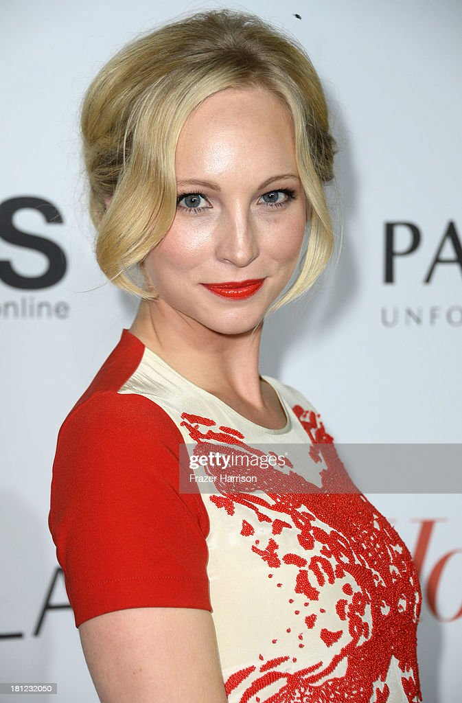 Actress Candice Accola arrives at The Hollywood Reporter's Emmy Party at Soho House on September 19 2013 in West Hollywood California