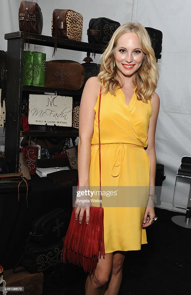 Actress Candice Accola attends day 2 of Backstage Creations Celebrity Retreat at Teen Choice 2012 at Gibson Amphitheatre on July 22, 2012 in Universal City, California.