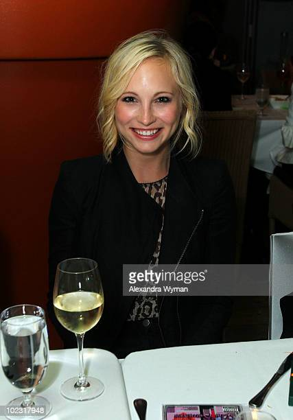 Actress Candice Accola attends private dinner before Nylon Magazine's Music Issue party hosted by MIA held at Asia de Cuba in the Mondrian hotel Los...