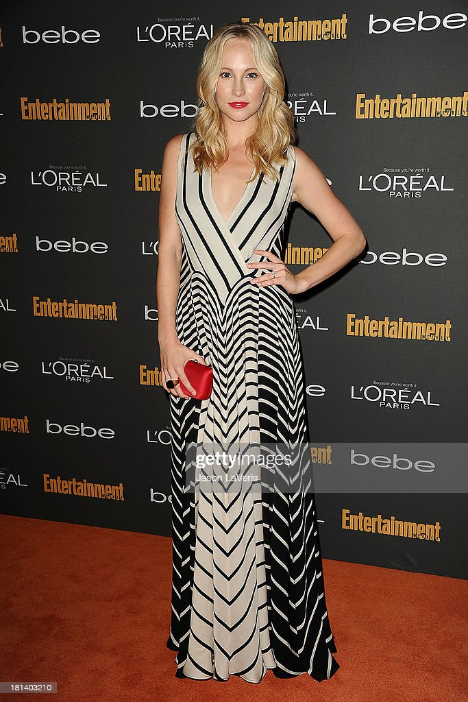 Actress Candice Accola attends the Entertainment Weekly preEmmy party at Fig Olive Melrose Place on September 20 2013 in West Hollywood California