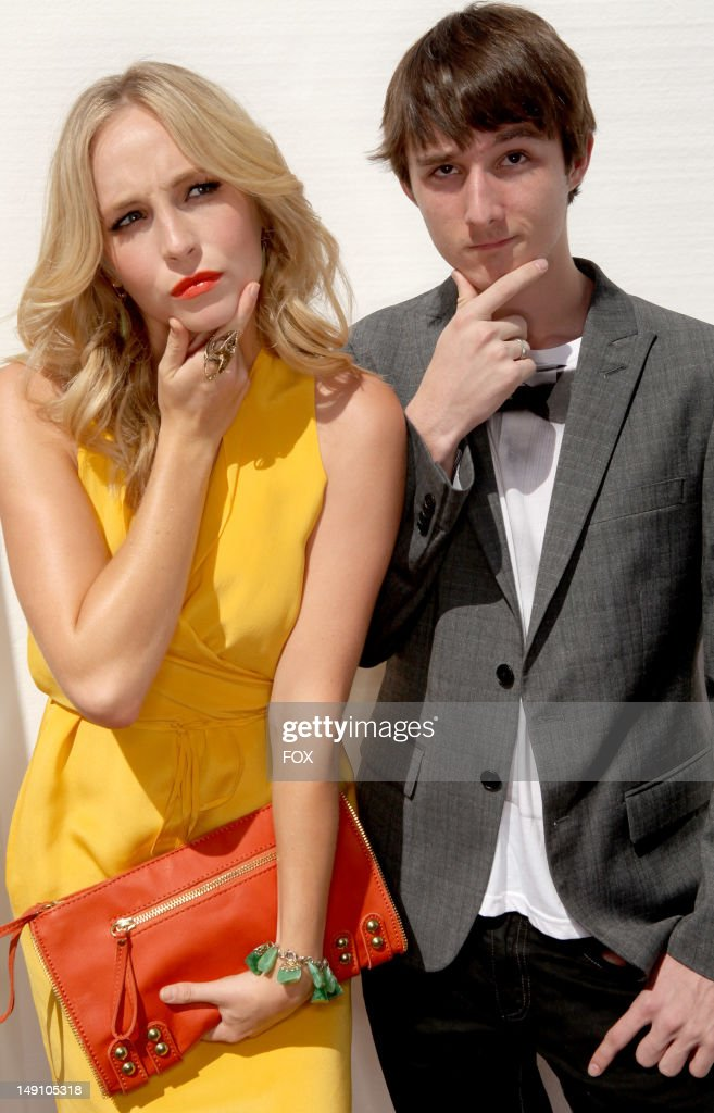 Actress Candice Accola (L) attends the FOX 2012 Teen Choice Awards at Gibson Amphitheatre on July 22, 2012 in Los Angeles, California.