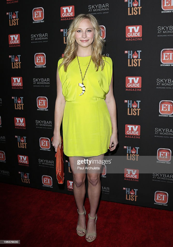 Actress Candice Accola attends the TV Guide Magazine Hot List Party at SkyBar at the Mondrian Los Angeles on November 12, 2012 in West Hollywood, California.