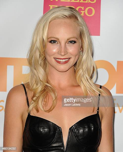 Actress Candice Accola attends TrevorLIVE Los Angeles at the Hollywood Palladium on December 7 2014 in Los Angeles California