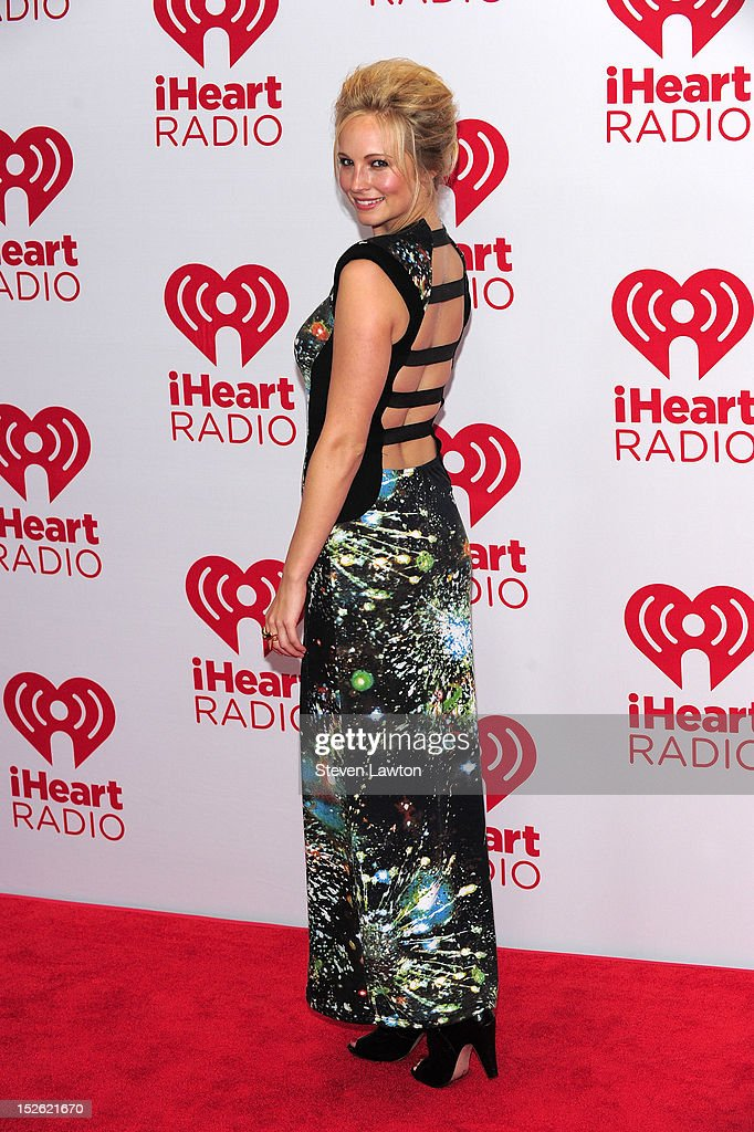 Actress Candice Accola poses in the press room at the iHeartRadio Music Festival at the MGM Grand Garden Arena September 21, 2012 in Las Vegas, Nevada.