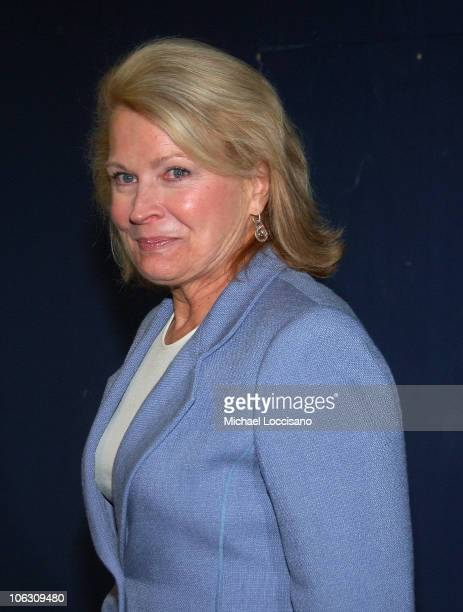 Actress Candice Bergen arrives to a special NY screening of 'Feast of Love' outside the Dolby 88 Screening Room in New York City on September 17 2007