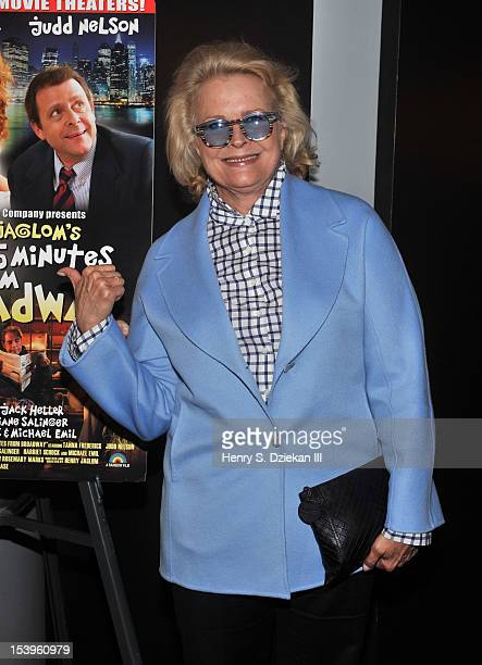 Actress Candice Bergen attends the New York Premiere of 'Just 45 Minutes From Broadway' at Florence Gould Hall on October 11 2012 in New York City